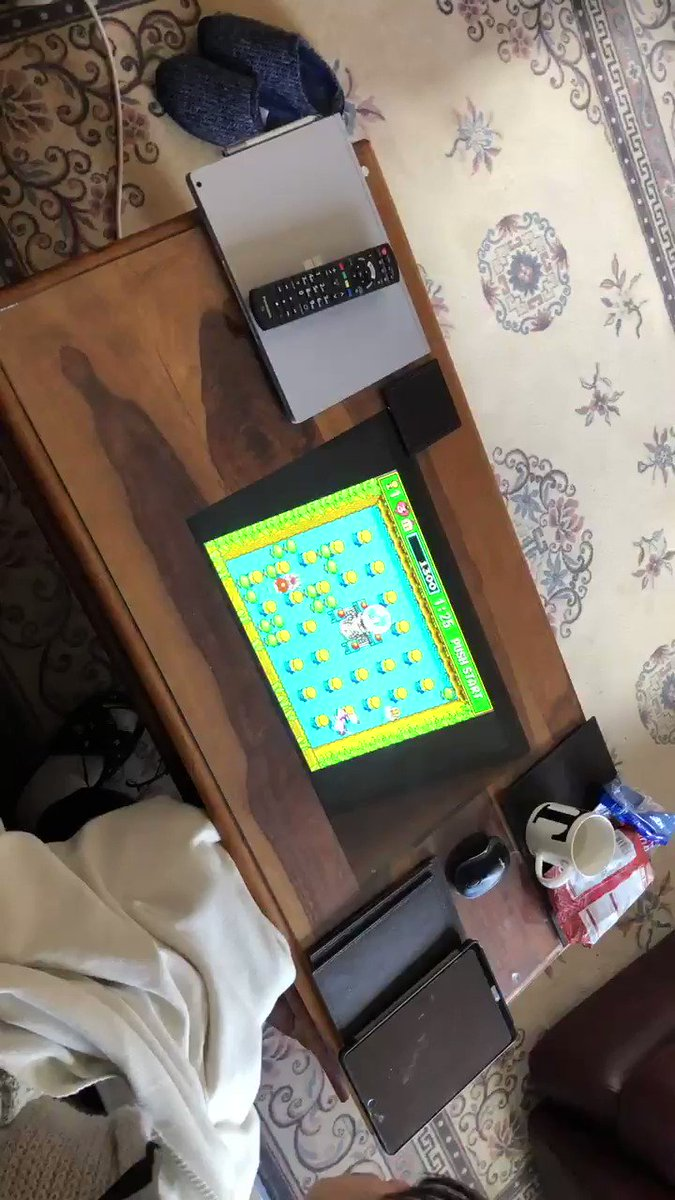 Epic #retro #game coffee table build in use - VIDEO—> https://youtu.be/eoQjdSWxlA4pic.twitter.com/O5wj1HWeGW