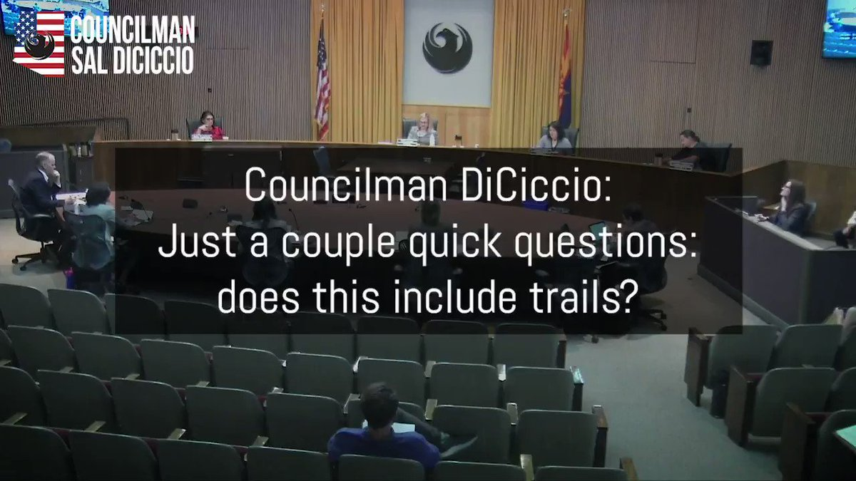 BREAKING: PHX politicians starting to backtrack on closing trails. They are all coming back calling it something else now. Here is the actual motion that was made at the Council meeting: