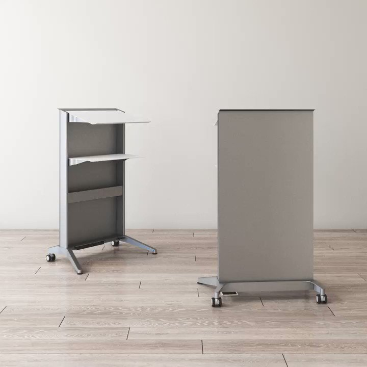 The Conveyance Mobile Lectern's sleek silhouette is both practical and multi-functional. View all of the options available in the Conveyance Mobile Lectern here:   #purposefulproduct #workplacedesign #corporatedesign #officeinspo #mobilelectern