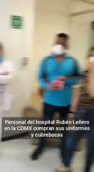 Image for the Tweet beginning: 🔴 Personal del hospital #RubenLeñero