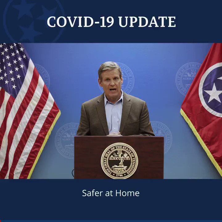 To every Tennessean who has the privilege and capacity to safely remain at home for the next two weeks: we need your help to protect the health and well-being of our state.   Plus, more highlights from today's briefing.    https://t.co/8oPBZVX6rc