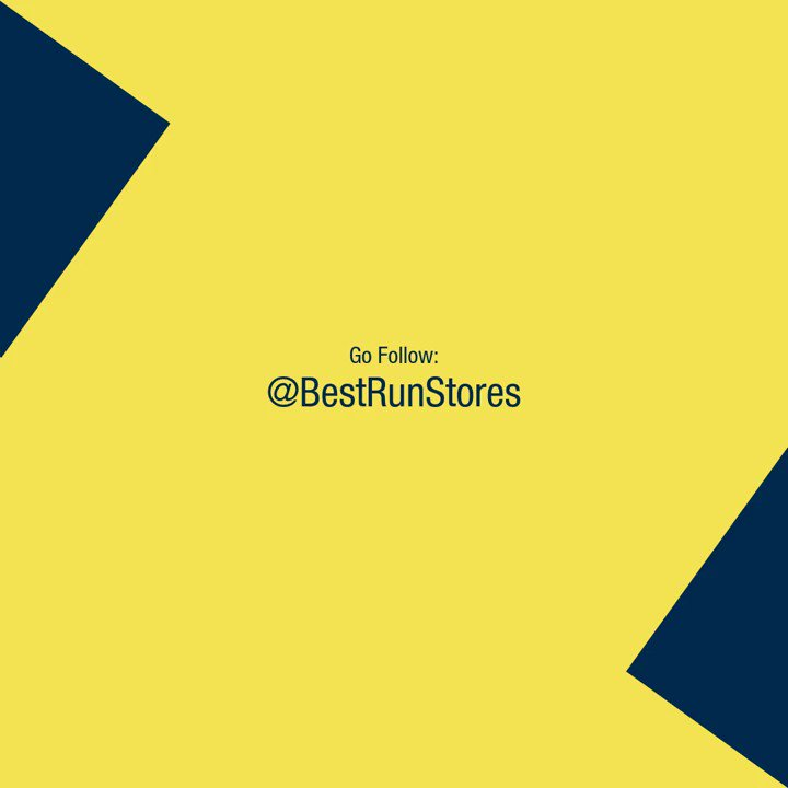 Don't forget to follow @BestRunStores!