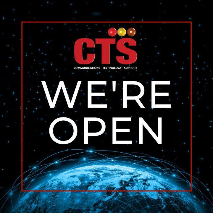 Image for the Tweet beginning: We are still open! Speak