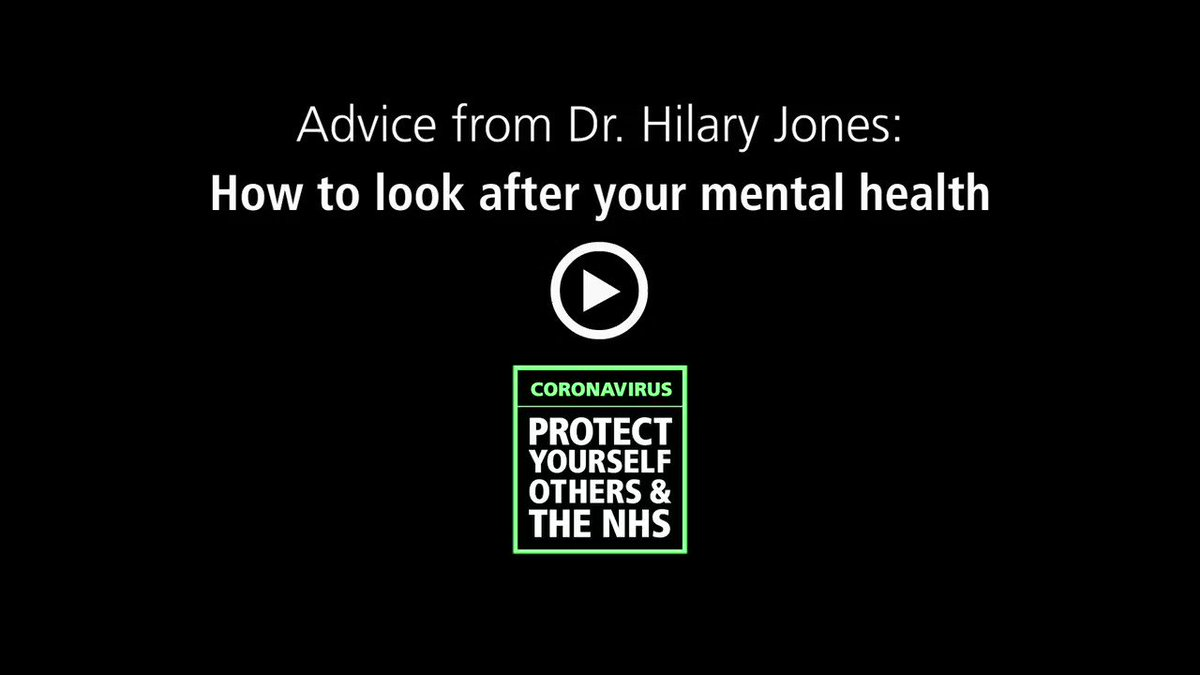 Looking after your mental health and wellbeing is important, especially as the government and NHS take the necessary steps to manage the outbreak and reduce transmission. Take a look at the governments mental health and wellbeing guidance 👉 ow.ly/xJNH50z2aOZ