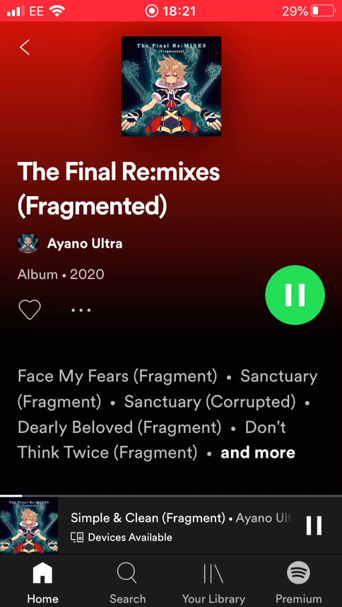 You can now stream my latest Kingdom Hearts themed album, The Final Re:MIXES on Spotify!