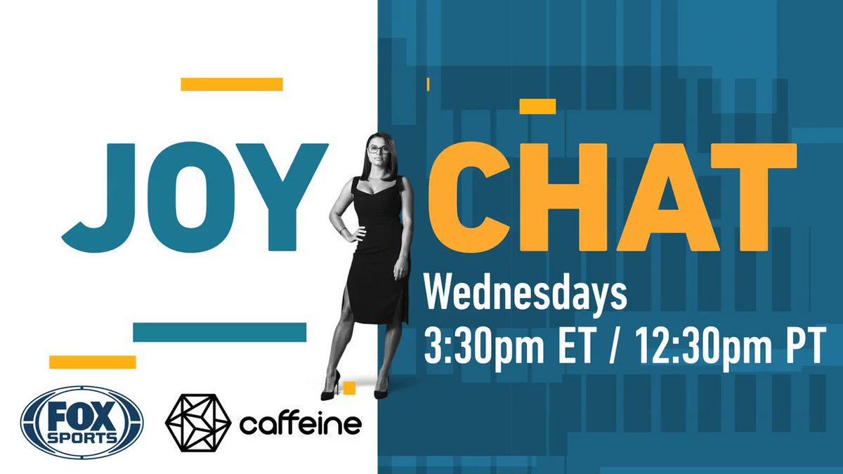 Let's go!!! Live at 3:30 PM ET! @caffeine @FOXSports caf.tv/FoxSports