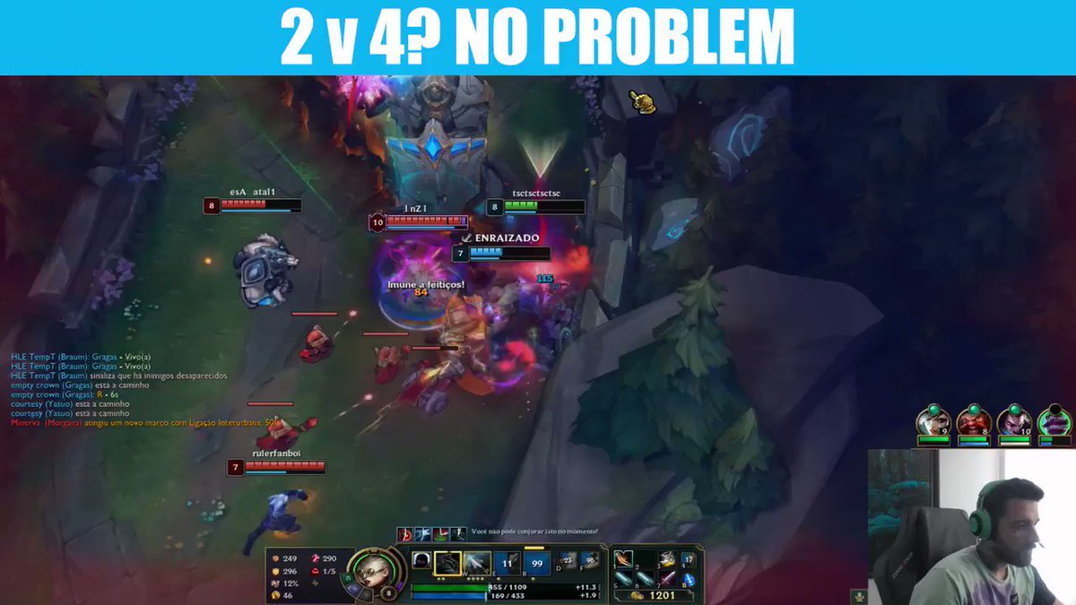 Incredible play by @brttOficial here. #LeagueOfLegends #League10 #LoL