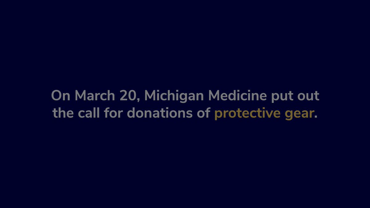 In this new video from @umichmedicine, you can see the incredible impact that your donations of medical gear and personal protective equipment has made.  On behalf of #UMichPath, thank you for your continued service in the fight against the COVID-19 pandemic.