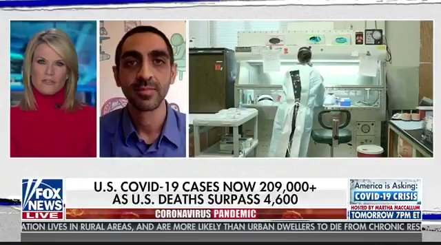Somebody decided to invite Dr. Rishi Desai onto Fox. I don't think they'll be asking him back.