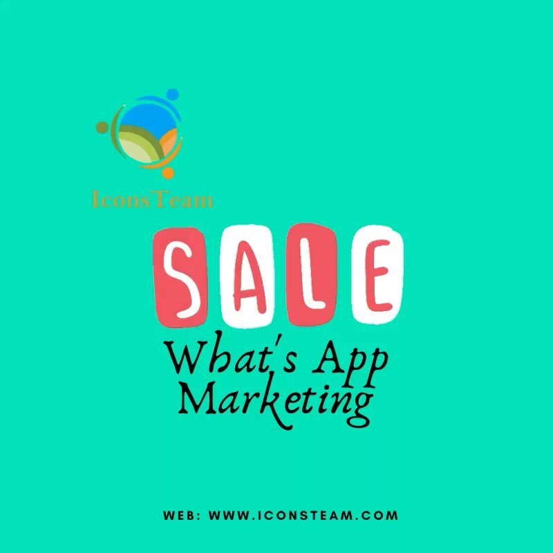 Let's reach to your customers with what's app marketing. #DigitalMarketing #marketing #SocialMediapic.twitter.com/2fIQfnGfxB
