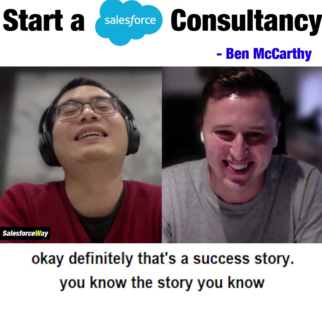 "Top 4 things you must get right to build a Salesforce consultancy firm? Ben McCarthy @SalesforceBen shares his great knowledge on this topic!  🎧 #Salesforceway - ""Start A Salesforce Consultancy"" 