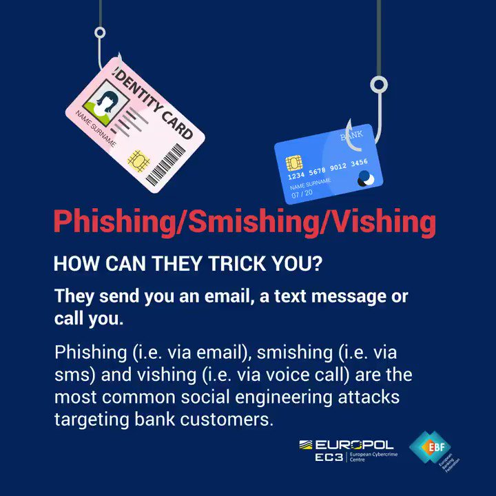 Image for the Tweet beginning: #SocialEngineering 👥 using #phising, #smishing