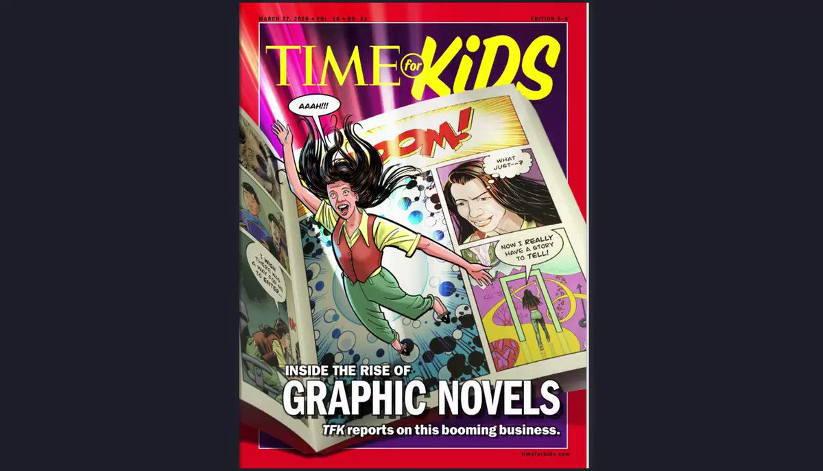 Kids love graphic novels, and we love everything that makes kids enjoy reading! Give them a chance to get engaged with @timeforkids —now free globally. Sign up at http://time.com/tfk-free