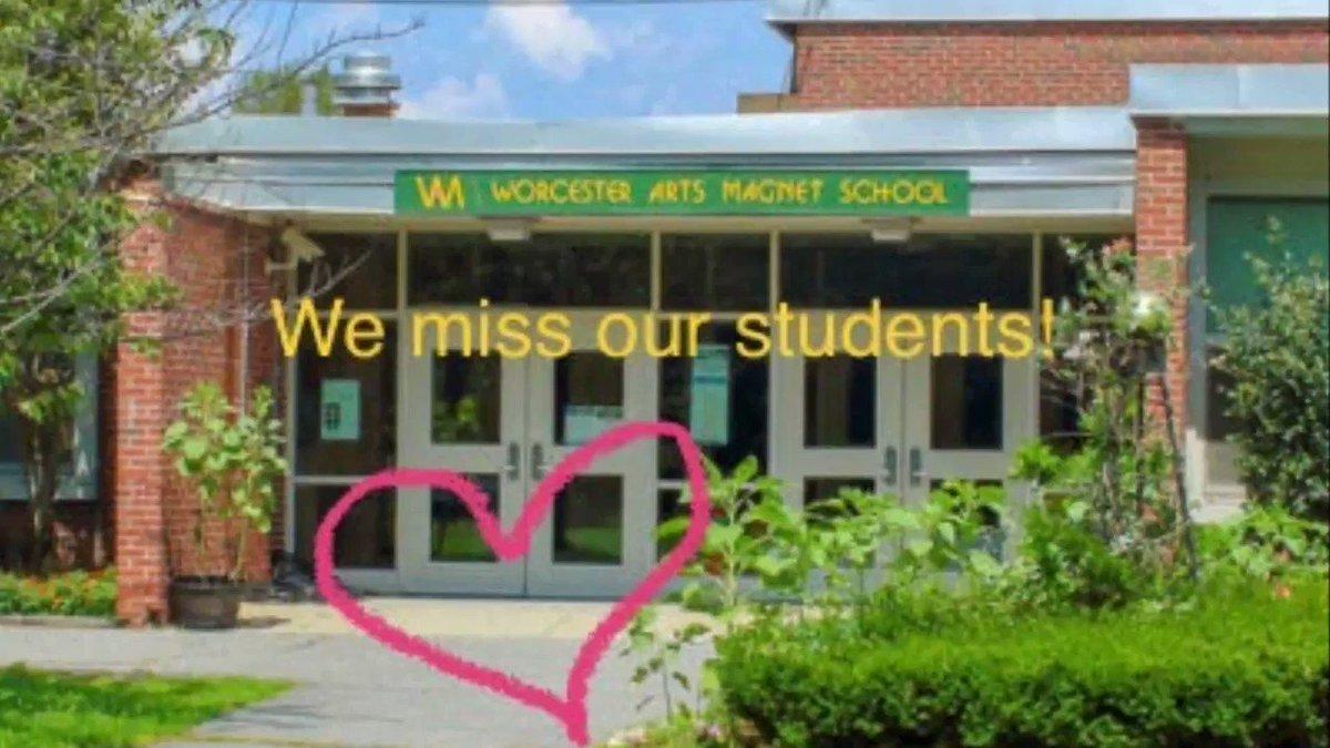 Image for the Tweet beginning: Worcester Arts Magnet staff send