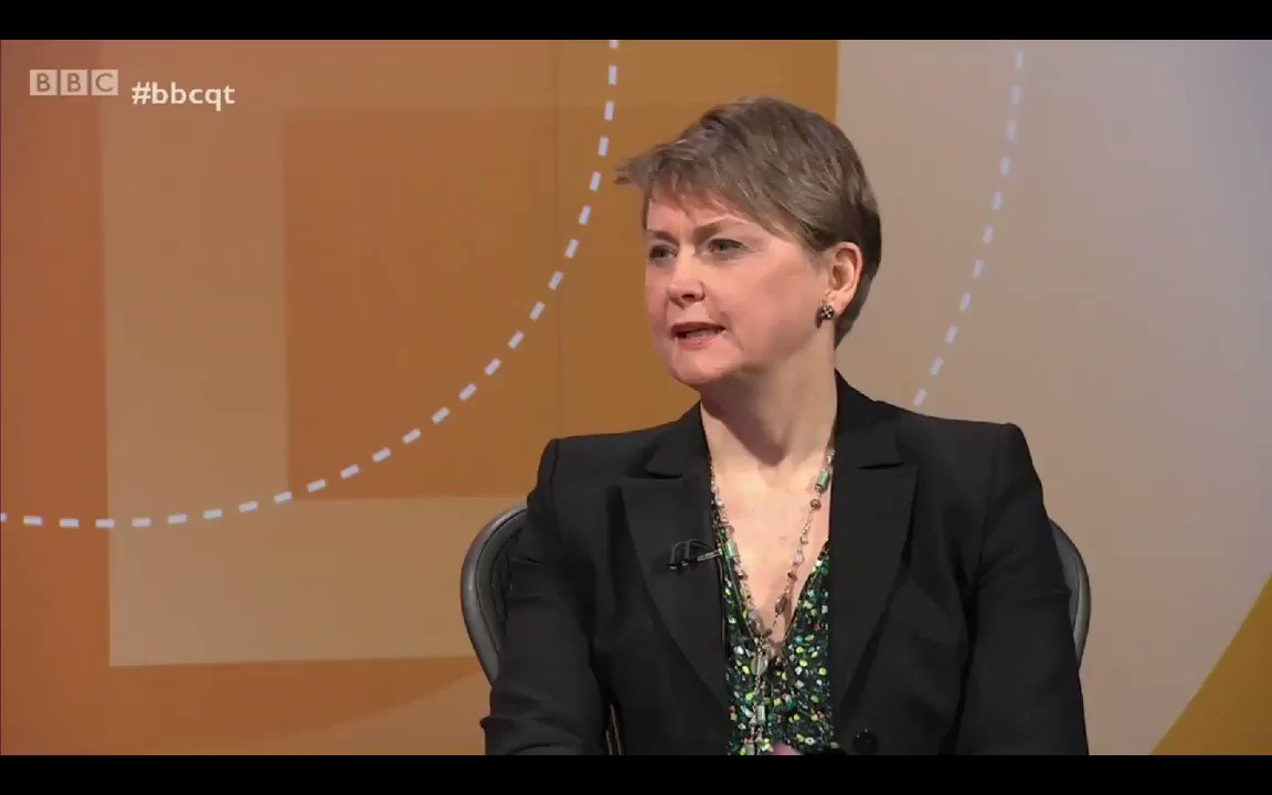 Image for the Tweet beginning: Yvette Cooper - There was