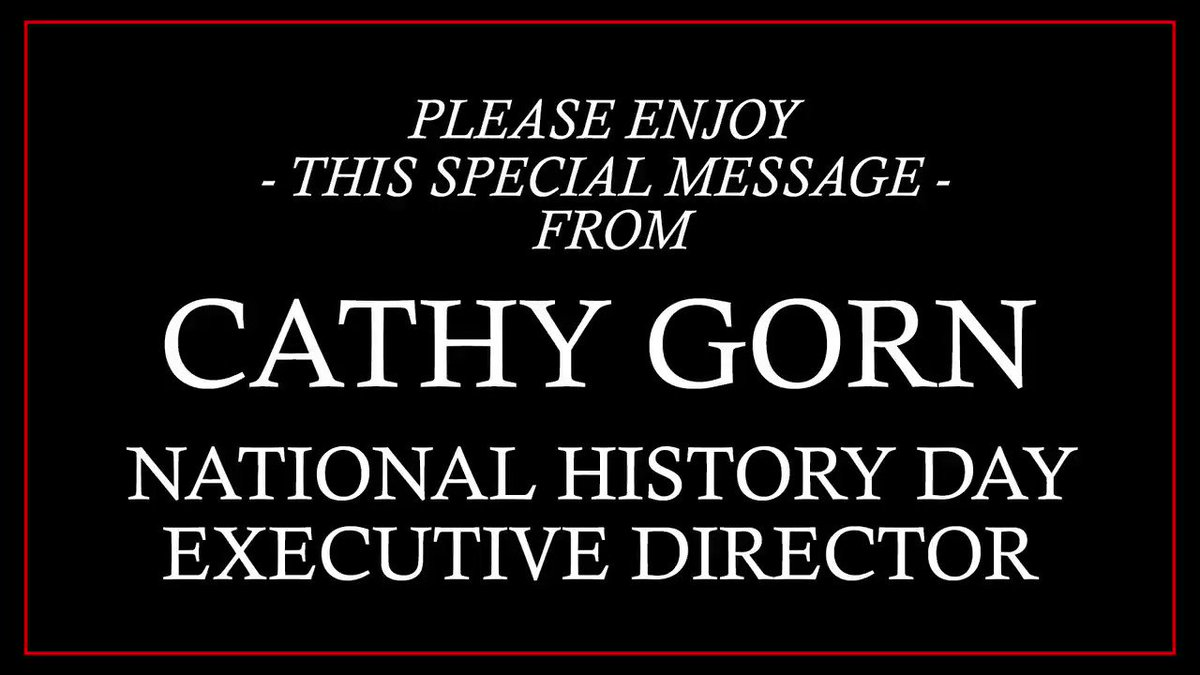 A special #NHD2021 message from @cathygorn . . .