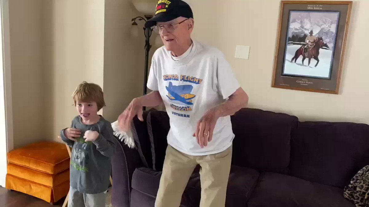 Update on Grandpa Bill, because who doesn't love an update on this sweet man. He's still feeling better, so much so he can now participate in one of his favorite dances! The Chicken Dance! 🐓 #LiveOnK2