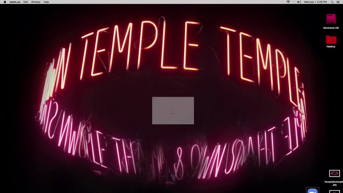 Please meet Phenom, from our new album Temple out May 15th. Due to the CA Stay At Home order we very much agree with, this music video was made entirely on ZOOM. It was conceived of & made within 1 week from March 23-30, 2020.smarturl.it/PhenomYT