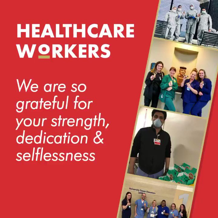 #HealthcareHeroes we are so grateful for you.  Today we are donating 45,000 coffee shots to NY healthcare professionals, and sending 25,000 more to hospitals across the country.  We are committed to finding more ways to support our frontline fighters.