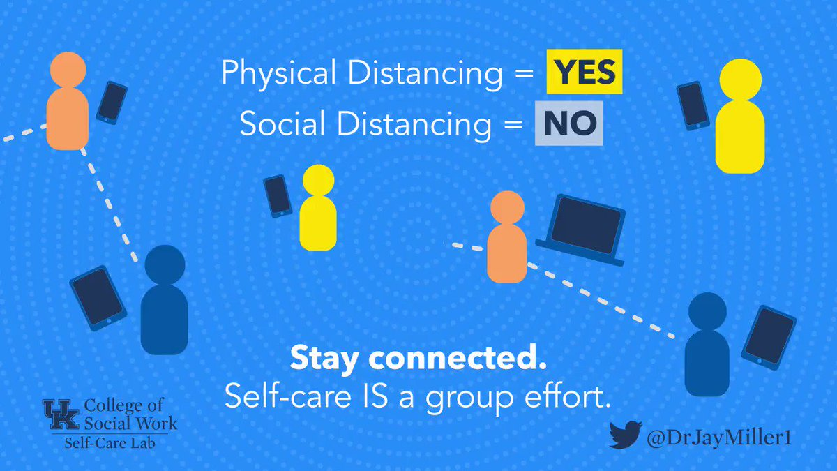 Physical distance, not social distance. #StaySocial #StayConnected