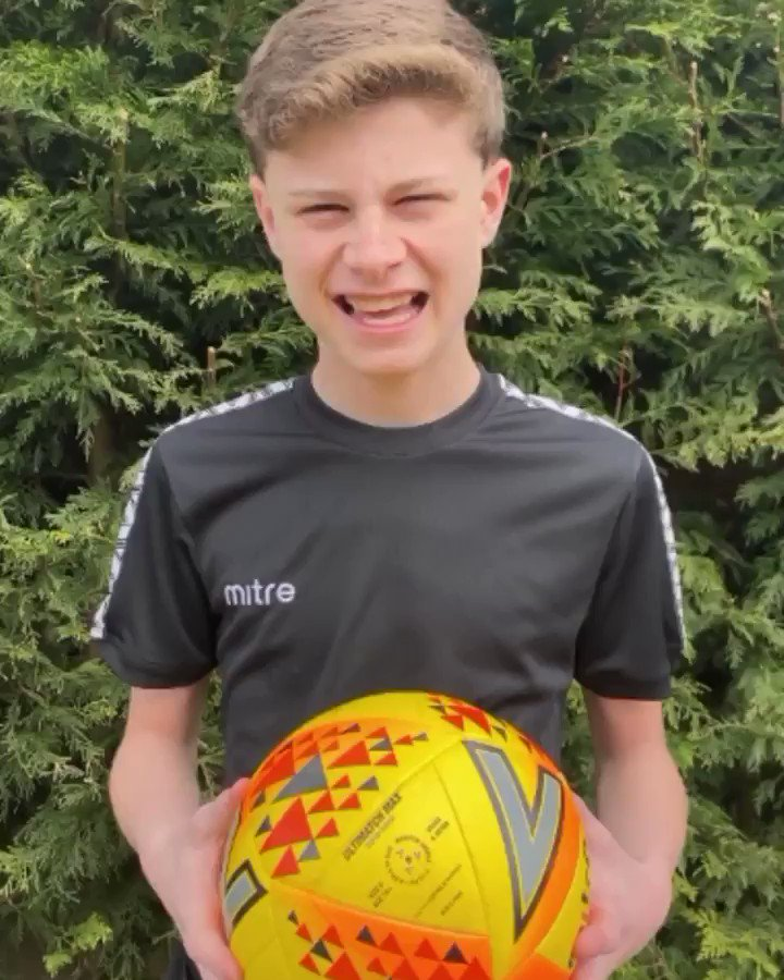 Max's #MitreChallenge - Challenge 4! 💪  @matchdaywithmax's latest challenge means you can grab a ball, get filming in the house, garage or garden and share with us using #mitrechallenge.  #AllYouNeedIsABall #Mitre #Football