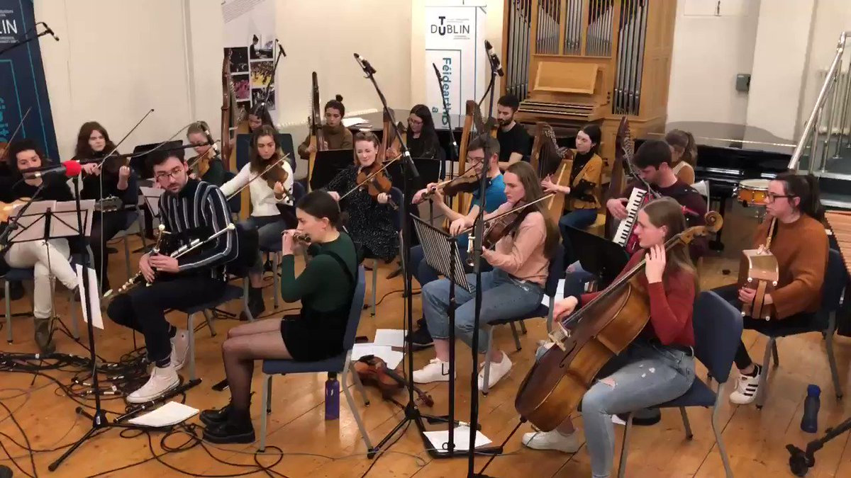 This week's Céilí House is from  @TUconservatoire in Chatham Row, Dublin formerly the Municipal School of Music. Tunes and song from the Conservatoire Trad Ensemble, @RedmondMr @fitzypat Dani Fox, Luke Webb &more. News too of the impending move to @WeAreTUDublin 9pm @RTERadio1