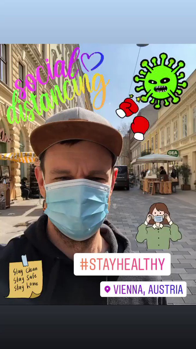 new reality Saturday outside somewhere in #Vienna  no science fiction it looks like a little bit scary  but I am healthy #stayathome #stayhealthy #COVID19 #corona #COVID19at #Covid_19 #COVIDー19 #wetogether #austria #togetherwecanpic.twitter.com/m2xOiR1Oy7