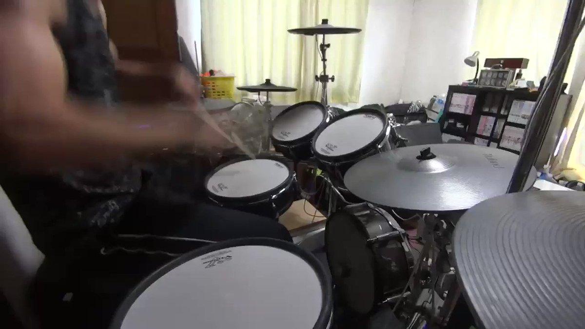 今日の演奏動画#ドラム#叩いてみた#バンドリ#ポピパ#Poppin'Party