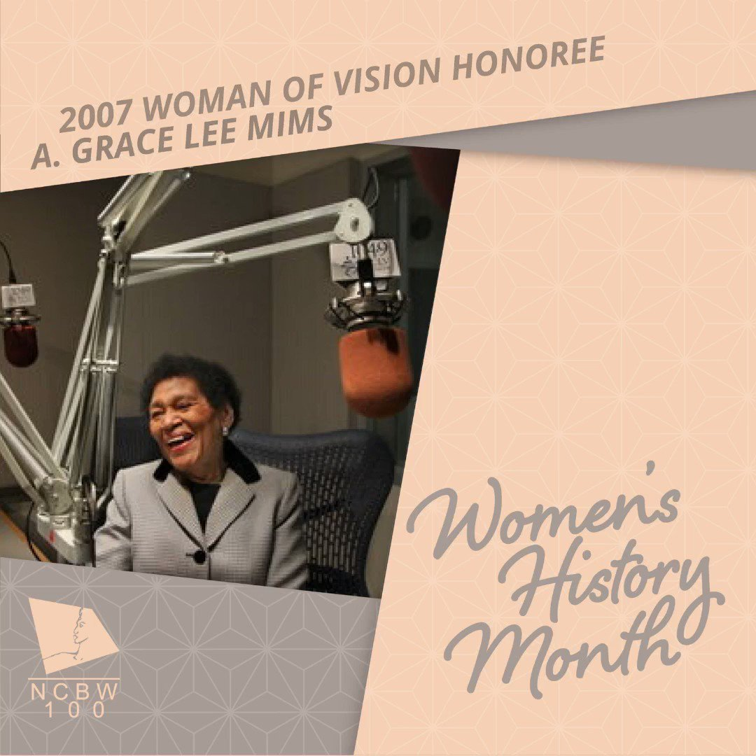 A. Grace Lee Mims is the National Coalition of 100 Black Women, Inc. 2007 Woman of Vision Honoree   #NCBW #NC100BW  #NC100BWINC #WHM2020 #WomensHistoryMonth #SheLEADS100 #WomenofVision #HamptonUniversity #Cleveland #Cle  #AGraceLeeMims