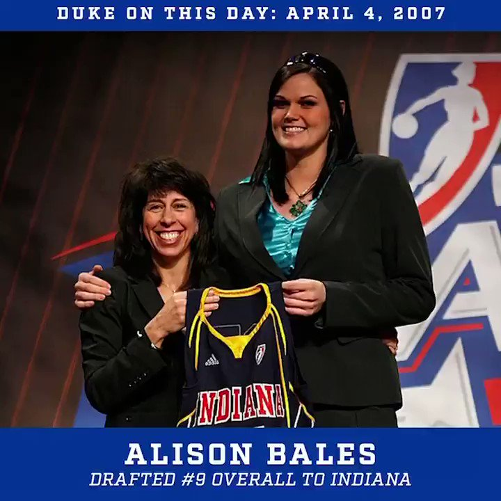 Big day in Duke history as Alison Bales went No. 9 overall in the 2007 draft 😈  #DukeOnThisDay #DukeintheWNBA https://t.co/XhlBChFSlq