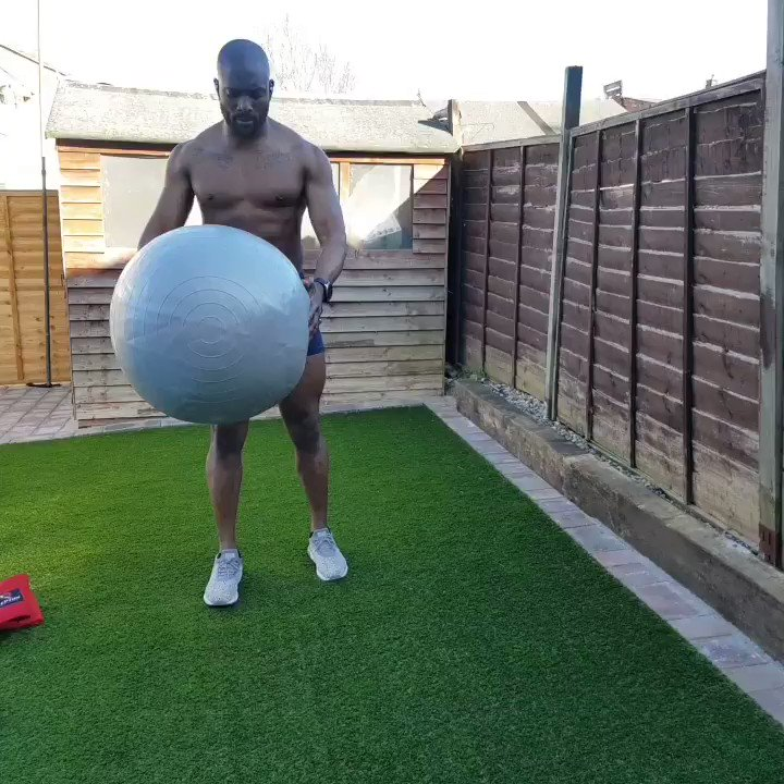 Exercise Ball back lunge twist  Total body Workout... sorry my abs have disappeared due to 5G.  #fitness  #StayAtHome
