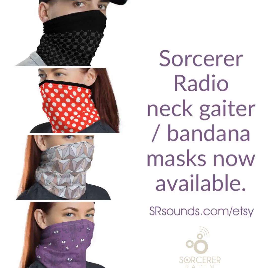 Sorcerer Radio neck gaiter / bandana masks now available. http://SRsounds.com/etsy #disney #wdw #disneylife pic.twitter.com/0m3V0wTZJY