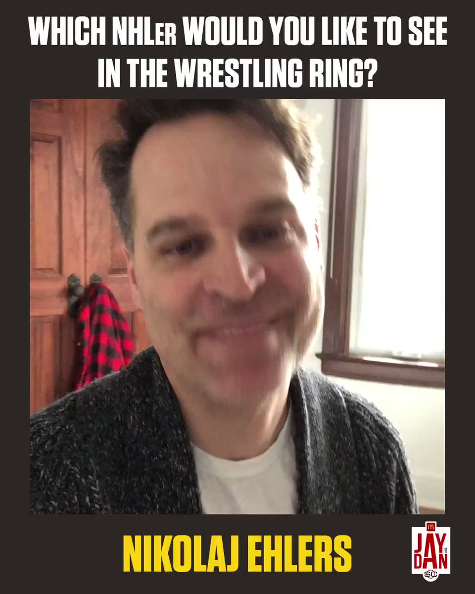 The NHLer @JayOnrait would like to see in the wrestling ring 👀 #JayAndDan