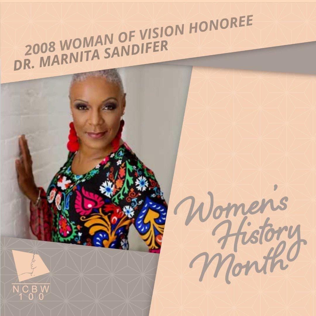 Dr. Marnita Sandifer  is the National Coalition of 100 Black Women, Inc. 2007 Woman of Vision Honoree   #NCBW #NC100BWINC #WHM2020 #WomensHistoryMonth #SheLEADS100 #WomenofVision  #Cleveland #Cle  #MarnitaSandifer