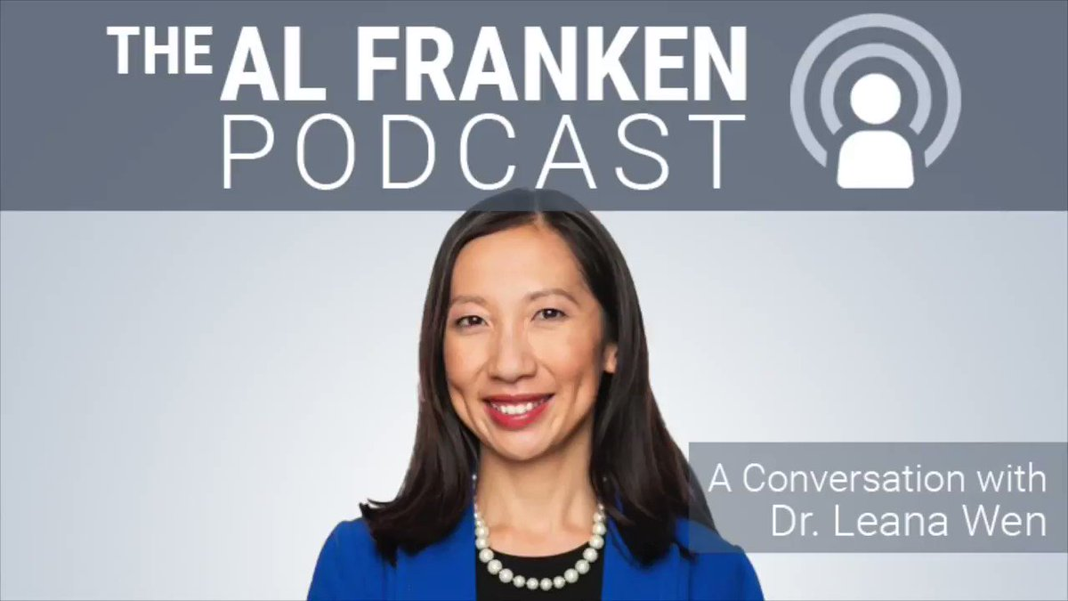 This wk @DrLeanaWen is my guest. Prof at GW School of Public Health, and fmr. Baltimore PH Commissioner, Wen, who served an arguably crazy mayor gives insight into the dilemma faced by Drs. Fauci &  Birx w/an inarguably crazy president.     On iTunes at: