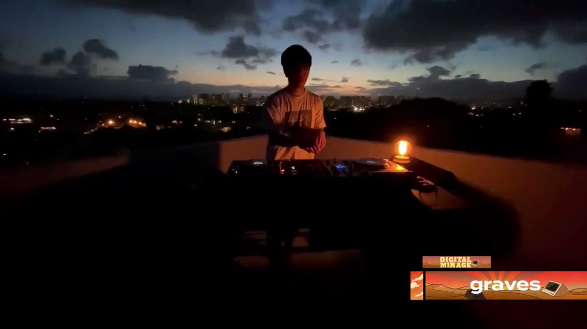 .@wearegraves dropping Arcus x All Of The Lights in a Hawaii sunset 🔥 what a time #DigitalMirage