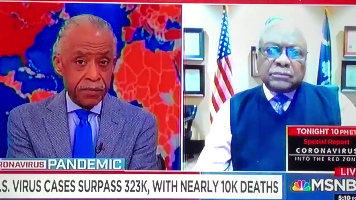Congressman Jim Clyburn joins me on #PoliticsNation to talk about the coronavirus pandemic, and more.