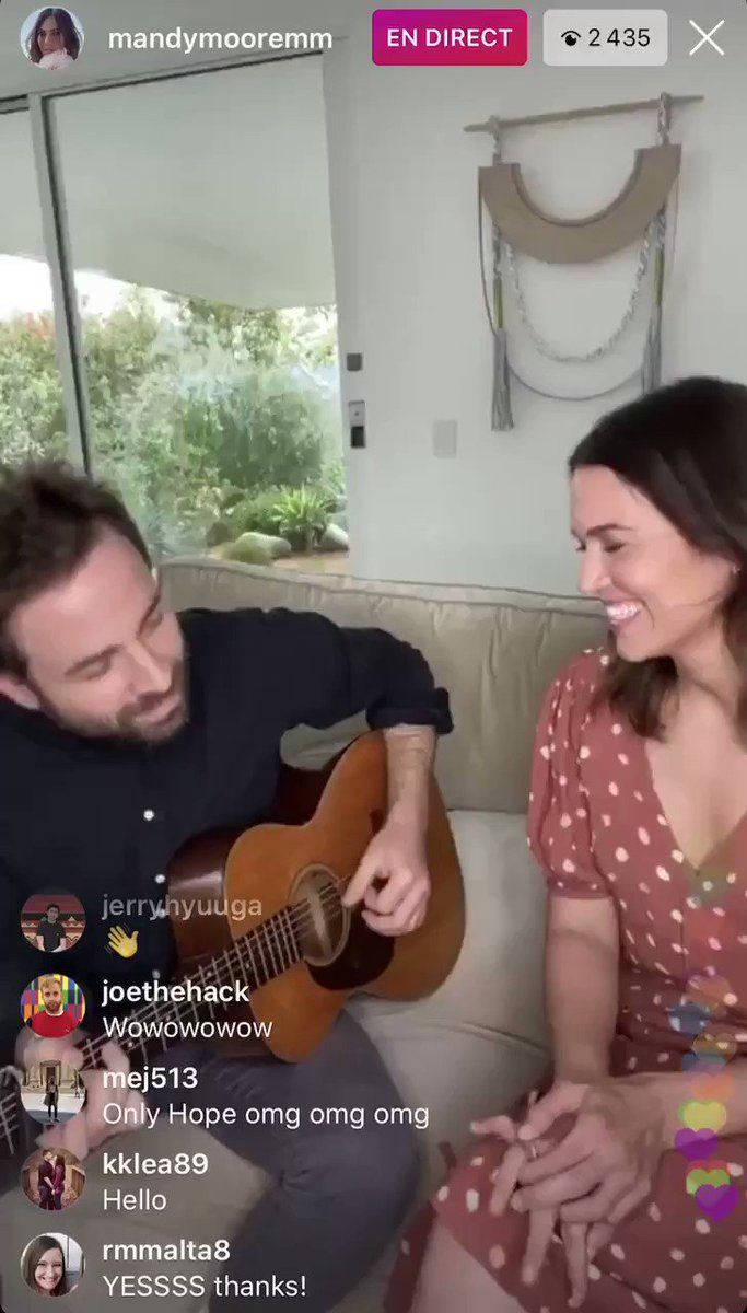 "MANDY MOORE JUST DID ""ONLY HOPE"" on her Instagram Live THIS IS NOT A DRILL FOLKS @TheMandyMoore"