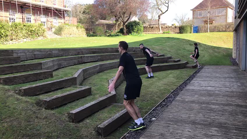 If you are lucky enough to have a garden with a set of steps, make the most of the sunshine by doing some step climbing! Stairs in the home can also be a great alternative. (This was recorded a few weeks ago - stay safe and follow all the social distancing guidelines.) #fitness pic.twitter.com/UwcrYD6zhW