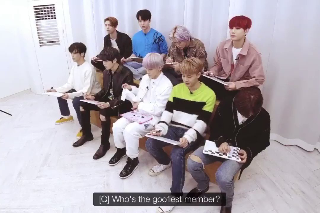 Goffiest member? Everyone except Jaehyun and Haechan chose Jungwoo  Jaehyun: but if you share a room with him, you'll know he's not that weird  Taeyong: but it's like he's from another planet, it's cute