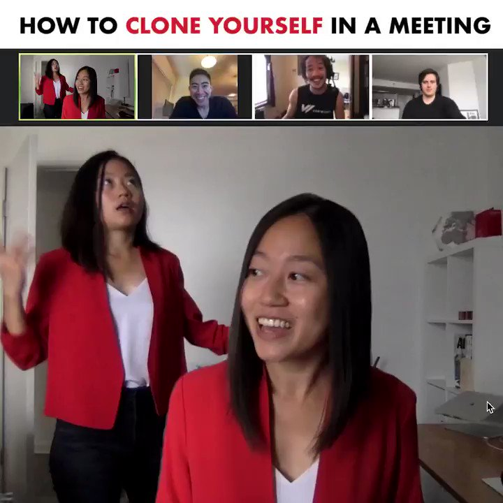 For your meetings this week - quick tutorial for the @zoom_us background trick!   Credit to @dz and @itsdancrowd