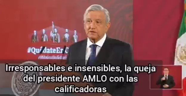Image for the Tweet beginning: 🔴 Se queja el presidente