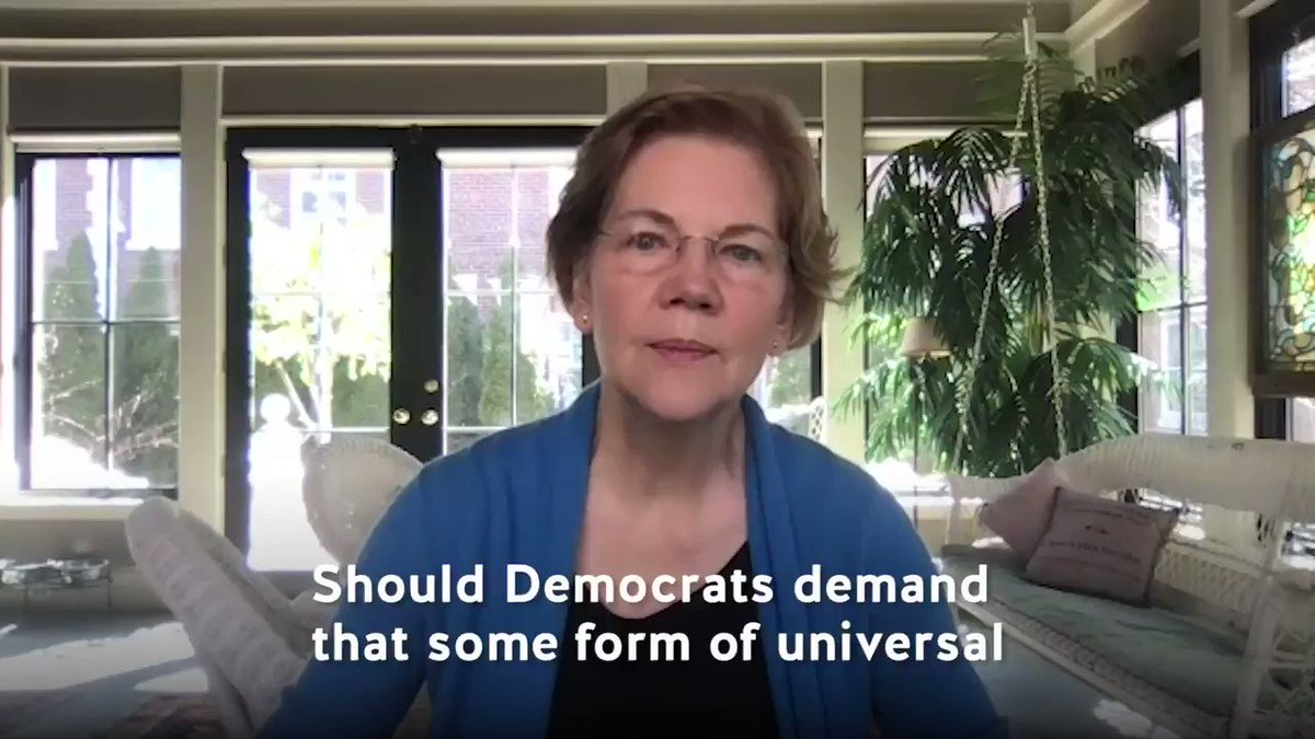 Q: Should Democrats demand that some form of universal vote-by-mail is included in the next relief bill as a condition of our support? @ewarren: Yes yes yes. Absolutely! Listen now 👇go.crooked.com/fRbwTh