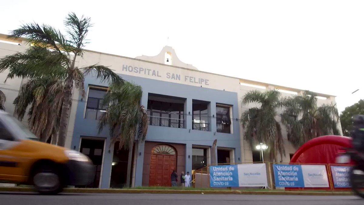 Hoy entregamos 65 camas hospitalarias en el marco del plan de acción que lanzamos para apoyar a las comunidades de San Nicolás y Ramallo. Son 19 camas de terapia intensiva y 28 de internación para el Hospital San Felipe y 18 camas de internación para el Hospital Gomendio. https://t.co/CHOy8FCjY2