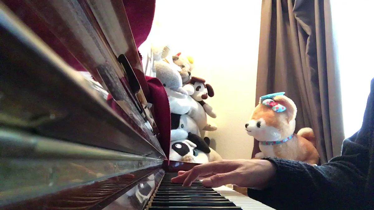 始めました、「一輝、ピアノ叩いてみた」これ何の曲かわかる人ー!!???