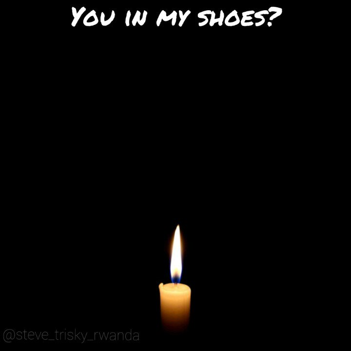 You in my shoes? This is a poem i did to honour and commemorate all innocent tutsi souls that had to be a victim of hatred, this was such a shame to humanity,never agn #Kwibuka26 , #rwot , #neveragaingenocide , #humanity1st, @SpokenwordRwa , @KwibukaRwanda , @UbumuntuArtFest