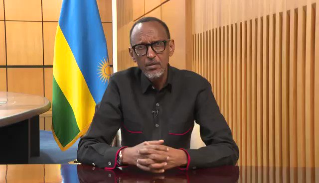 """VIDEO: """"The current unusual circumstances will not prevent us from fulfilling our obligation to commemorate this solemn anniversary, honour those we lost and console survivors."""" President Kagame message for #Kwibuka26 (1/2)"""