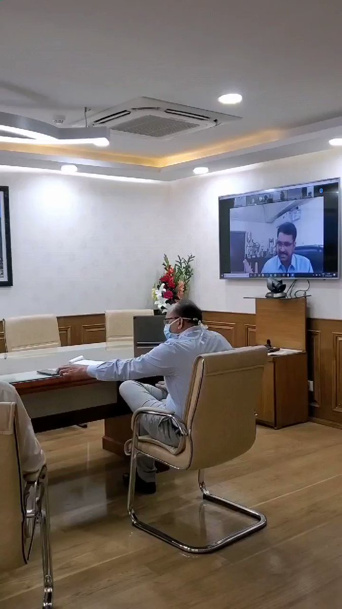We are proud of our sportspersons and the entire sports fraternity for very encouraging steps taken in support of our nation's united fight against the pandemic coronavirus. Took a review meeting with all the Regional Directors of Sports Authority of India. #IndiaFightsCoronapic.twitter.com/vld5QnuQXi