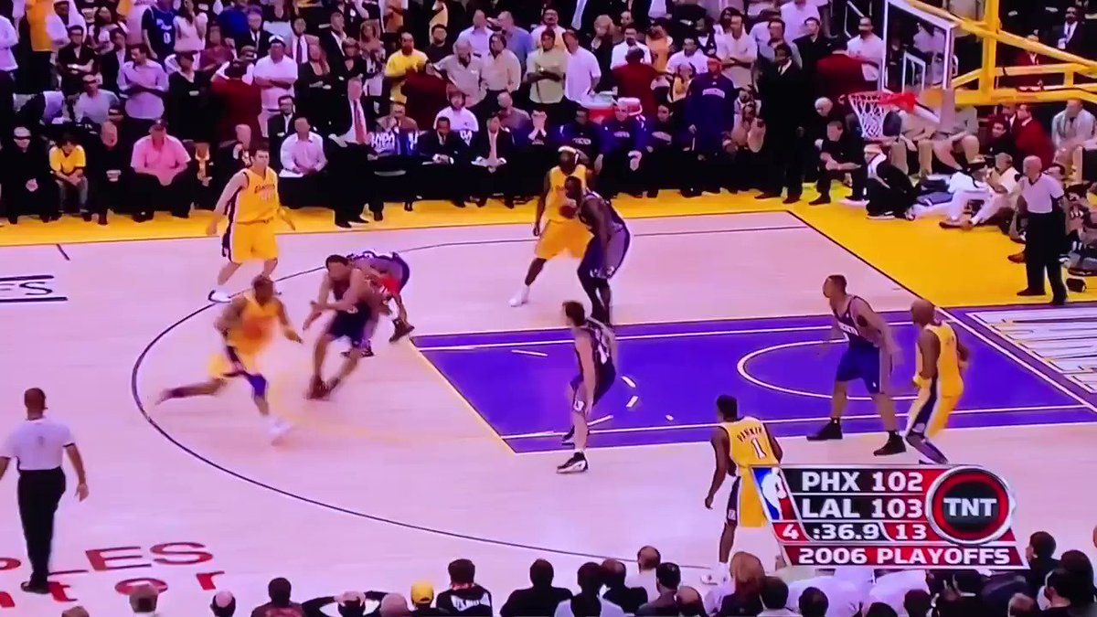 Underrated Kobe moment — comes within 1 stop and 1 improbably huge Tim Thomas moment of making Round 2 w/ Odom and a bunch of bench guys. Lost in OT, Kobe had 50. Suns win in 7. Next round would've been Clips vs Lakers.