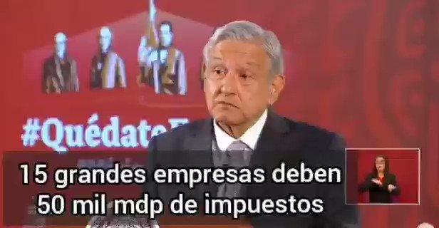 Image for the Tweet beginning: 🔴15 grandes empresas deben 50